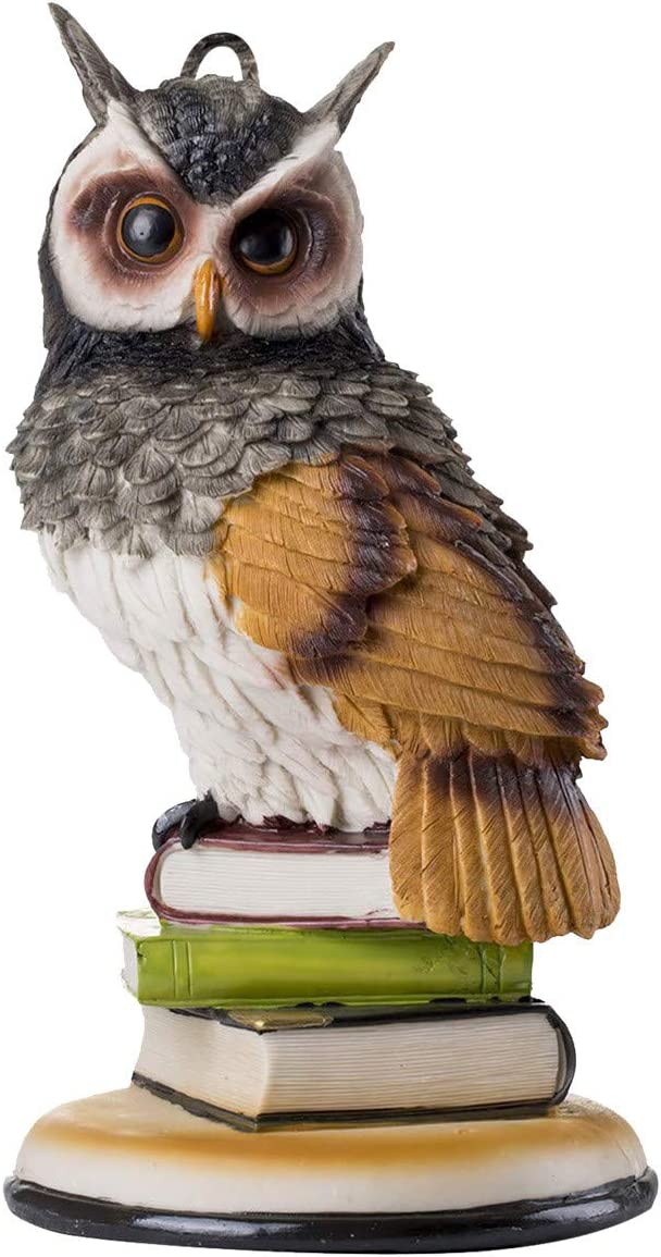 Pomobie Garden Protector - Fake Owl to Keep Birds Away - Owl Decor to Protect Gardens from Wildlife - Garden Statue Owl Statue for Outdoors or Indoors(A)