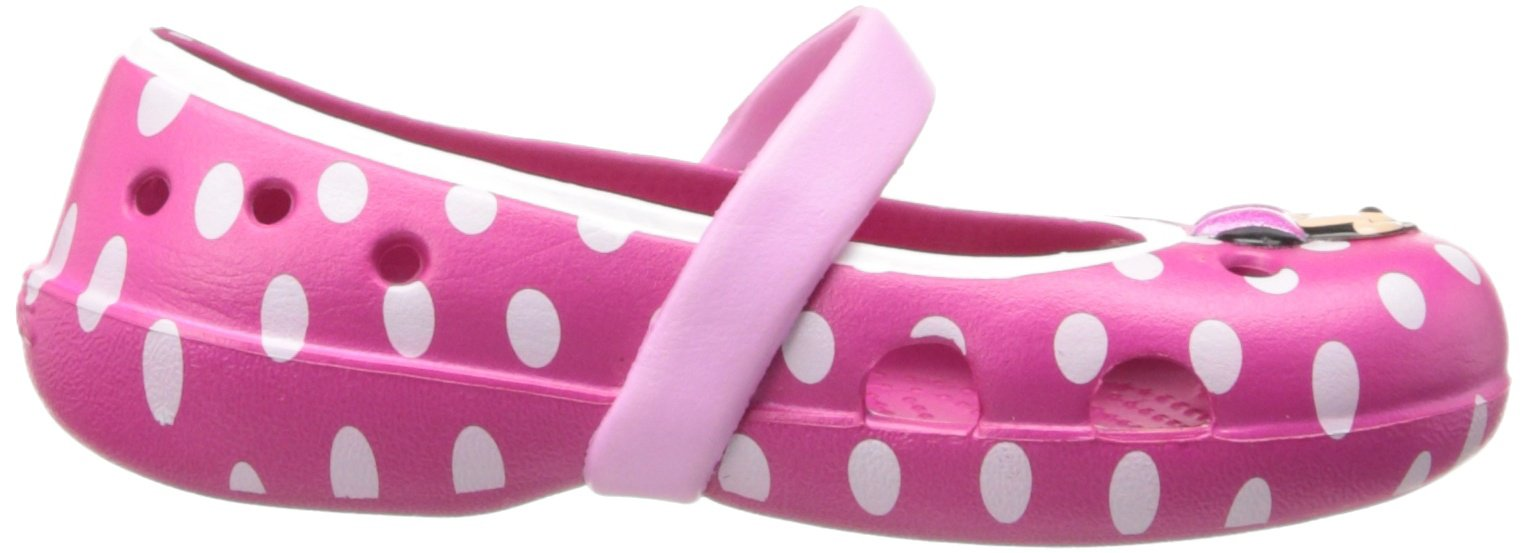 Crocs Keeley Minnie Flat (Toddler/Little Kid),Candy Pink/Carnation,11 M US Little Kid by Crocs (Image #6)