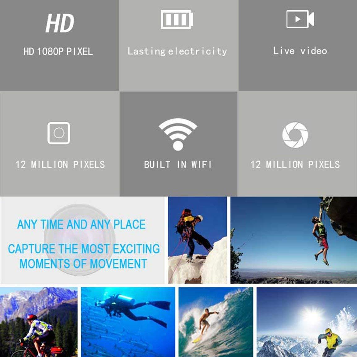 Fantasyworld Cámara Ultra Mini HD 1080P / 60fps 12MP 4K Acción WiFi Deporte para GoPro H9: Amazon.es: Deportes y aire libre