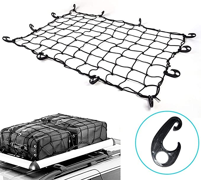 Medium cargo luggage trailer net Bungee spider cord 90 x 130 or roof rack secure