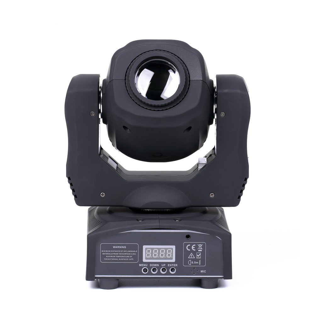 U`King LED Moving Head Light Spot 4 Color Gobos Light 100W DMX with Show KTV Disco DJ Party for Stage Lighting (1)