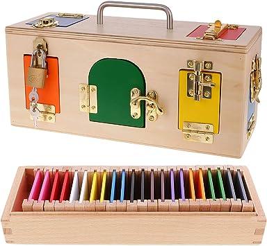 B Blesiya Juguete Montessori de Madera Caja de Cerradura y Caja de Color Juego de Aprendizaje Teprano para Niños Niñas: Amazon.es: Juguetes y juegos