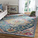 Safavieh Crystal Collection CRS501T Teal and Rose Bohemian Medallion Area Rug (6'7 x 9'2) Review