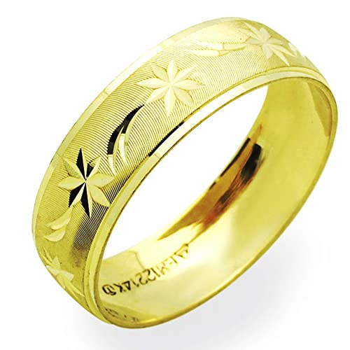 672597d222e2d Double Accent 14K Yellow Gold 6mm Wedding Band (Size 5 to 12)
