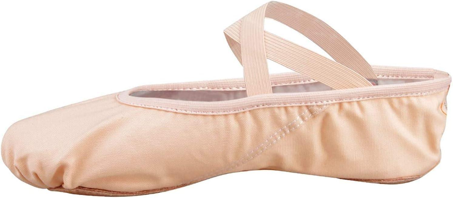 Skyrocket Flying Girls Half Pointed Canvas Ballet Shoes EU25~44 Soft Dance Slippers for Gym Yoga Dance