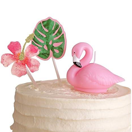 Amazon.com: Flamingo Birthday Candle Cake Topper Party ...