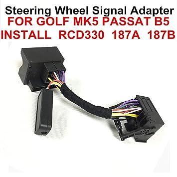 RCD330,510 - Cable Adaptador Multifuncional de Control de Rueda para Volkswagen Golf Polo Passat para Volkswagen Golf Polo Tiguan Caddy Passatsharan: ...