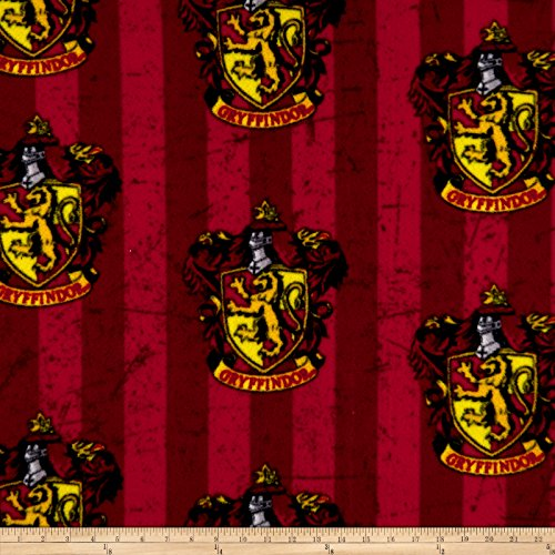 (CAMELOT Fabrics Harry Potter Gryffindor Fleece Multi Fabric by The)