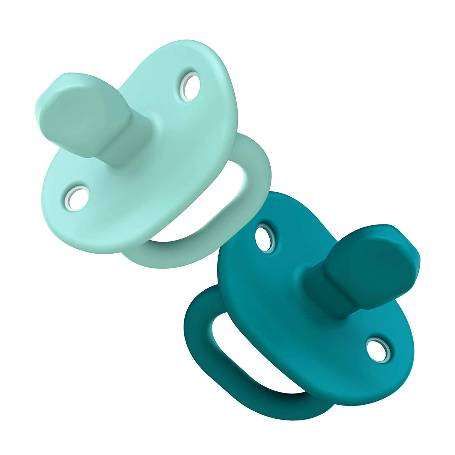 Boon JEWL Orthodontic Silicone Stage 2 Pacifier, 2 pack, Blue