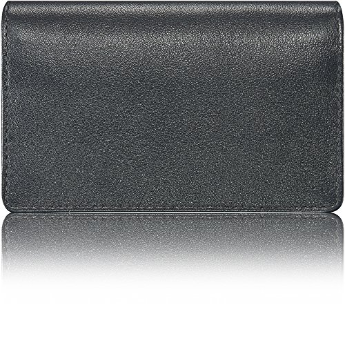 - KAVAJ Leather Business Card Holder Case Wallet