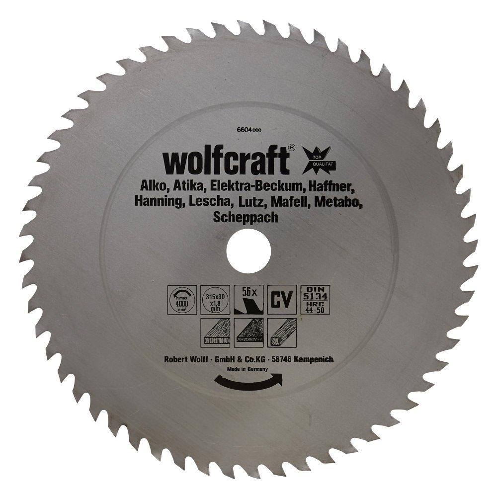 Wolfcraft 6606000 CV-Kreissägeblatt, 56 Zähne Ø 350 x 30 x 1,8 Wolfcraft GmbH