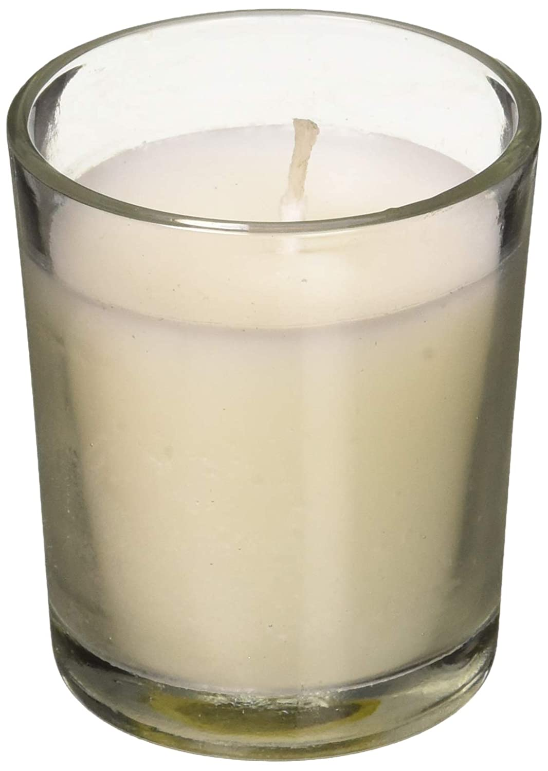 Hosley's Set of 12 Unscented Clear Glass Wax Filled Votive Candles - 12 Hour Burn Time. Glass Votive & Hand Poured Candle Included, Ideal for Aromatherapy, Weddings, Party Favors. O1 HG Global FBA_FBAC-H20603ON-1-EA