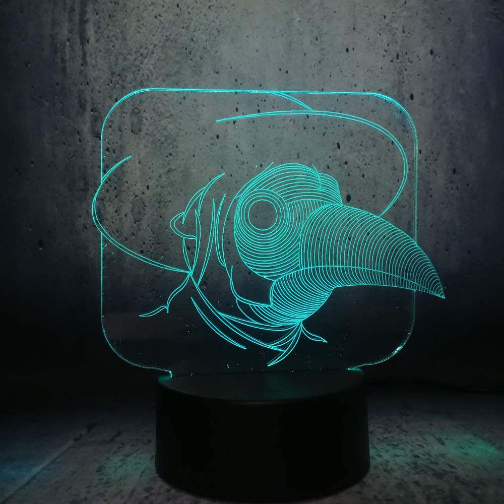 Controller 7 color KKXXYD 3D Bird Mouse Cute Led Night Light RGB Decoration Animal Lamp Bedroom Sleep Light 7 color Change Boy Kid Toy