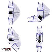 STEIGNER Joint d'étanchéité DOUCHE magnétique pour verre d'épaisseur 6mm / 7mm / 8mm UPS - 201cm, SET 135 DEGRÉ, UKM04