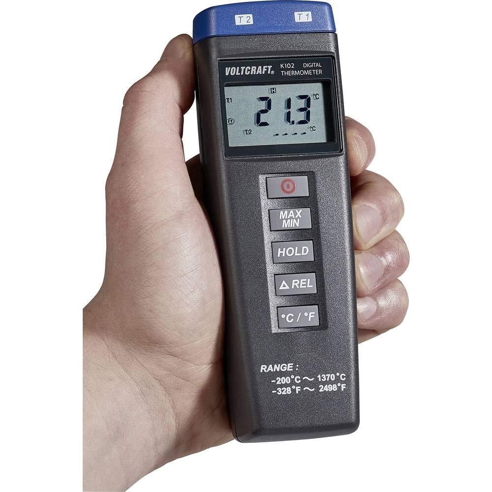 Voltcraft K102 Temperatur Messgerät 200 Bis 1370 C Fühler Typ K Gewerbe Industrie Wissenschaft