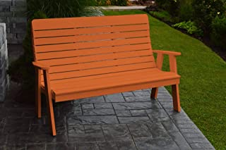 product image for Outdoor Winston Garden Bench - 5 Feet - Orange Poly Lumber