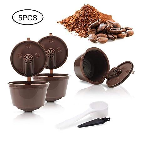 Pawaca Cápsulas Filtros de Café Recargable Reutilizable para Cafetera Dolce Gusto Resistente Más de 150 Usos de Sustitucion con Equipo Incluye 1 ...