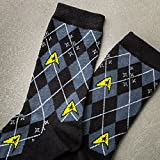 New Star Trek Repeat Pattern Knee High Socks 2 Pack