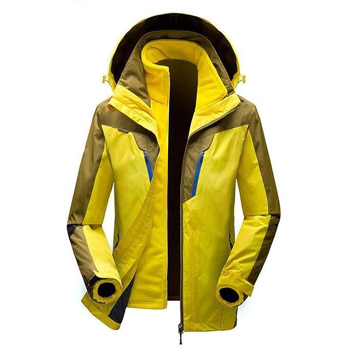 Chaqueta para Hombres 3 en 1 - Chaqueta Liviana para Todas Las Estaciones, Impermeable, Transpirable - Chaqueta para Hombres para el Clima frío: Amazon.es: ...