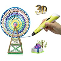 3D Pen- Birthday Gift for Kids DIY Safe Arts Crafts Creative Toys for 8 12 Year Old Girls Boys Drawing Printing Pen with Multicolor Filament Children's Day Present Unleash Creativity Thinking