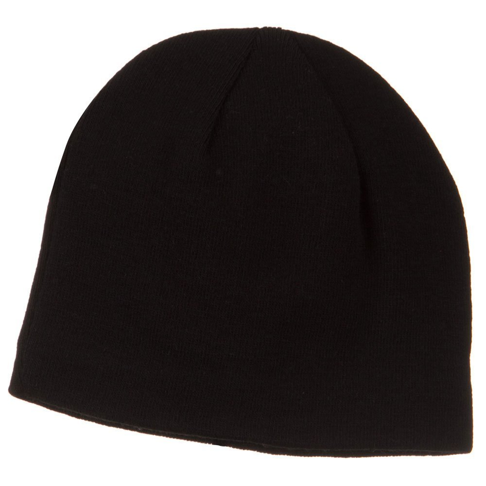 3e17489ae28 Amazon.com  Cool Max Plain Color Beanie - Black  Clothing