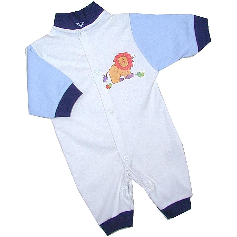 BabyPrem Premature Baby Romper Playsuit Cotton Clothes Blue Lion 1 5