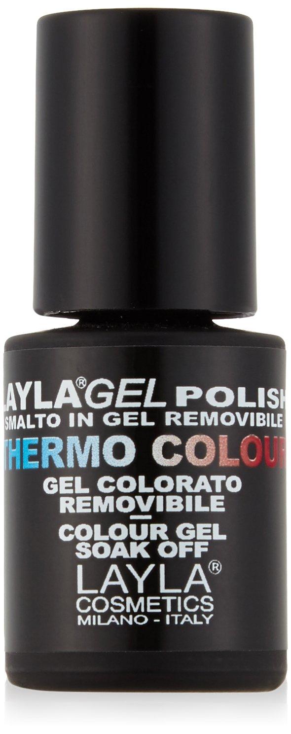 Layla Cosmetics Laylagel Polish Thermo Smalto Semipermanente per Unghie con Lampada UV, 1 Confezione da 10 ml, Colore N° 11 Colore N°11 1642R25-011