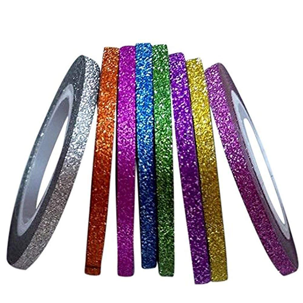 New8Beauty Nail Polish Strips 8-Pack - Nail Striping Tape for Nail Art Decoration Stickers 3mm Thick - Best Stocking Stuffers Gifts