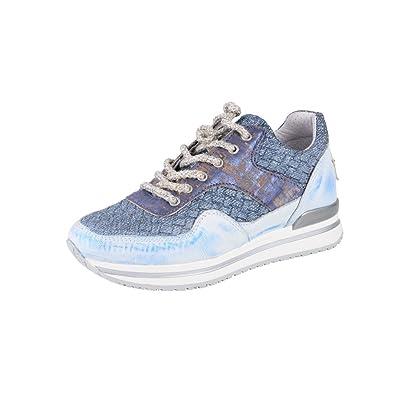 2Star Gold Zapatos Mujer Azul Claro Cuero Zapatillas 40