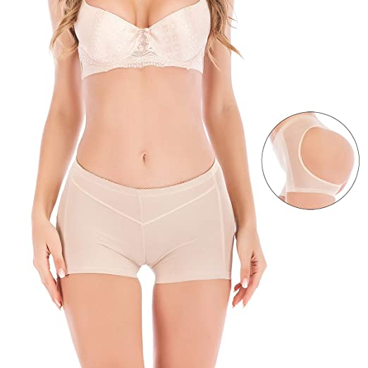c5c6cb8b61 Image Unavailable. Image not available for. Color  SAYFUT Hot Womens Butt  Lifter Boy Shorts Shapewear Butt Enhancer Control Panties