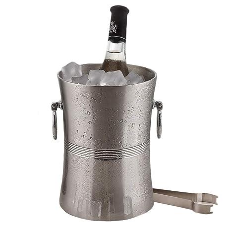 Amazon.com: Ice Bucket with Tongs, Portable Champagne Bucket ...