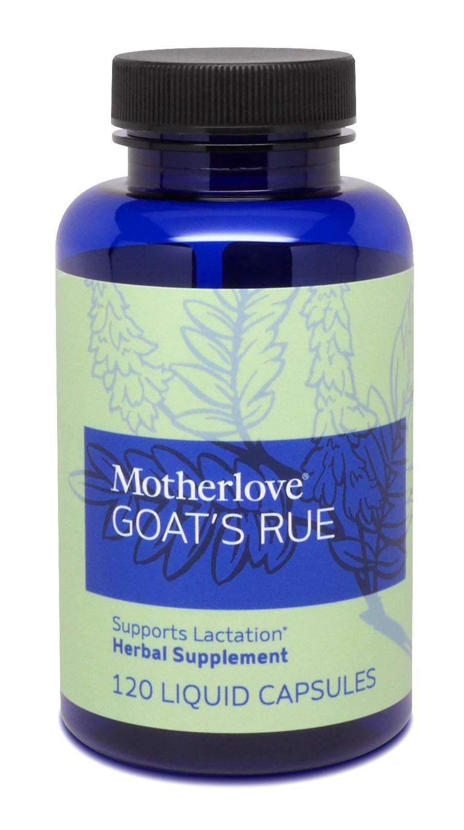 Motherlove - Goat's Rue, Potent Herbal Breastfeeding Supplement, Supports Mammary Tissue Development & Breast Milk Supply, Alcohol-Free Vegan Liquid Capsules with Organic Goat's Rue Herb, 120 ct.
