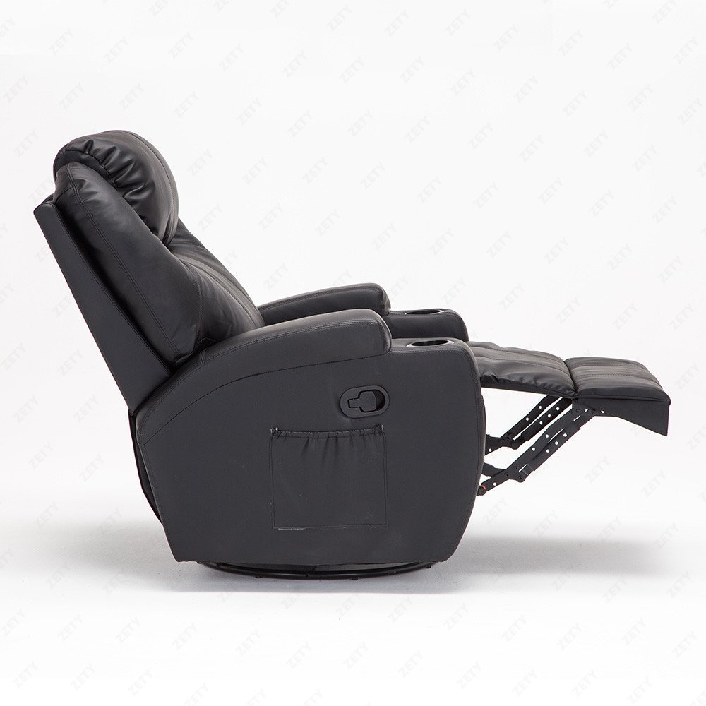 Amazon.com RECLINER GENIUS Massage Recliner Chair Leather Heated Lounge Living Room Chair Black Kitchen u0026 Dining  sc 1 st  Amazon.com & Amazon.com: RECLINER GENIUS Massage Recliner Chair Leather Heated ... islam-shia.org