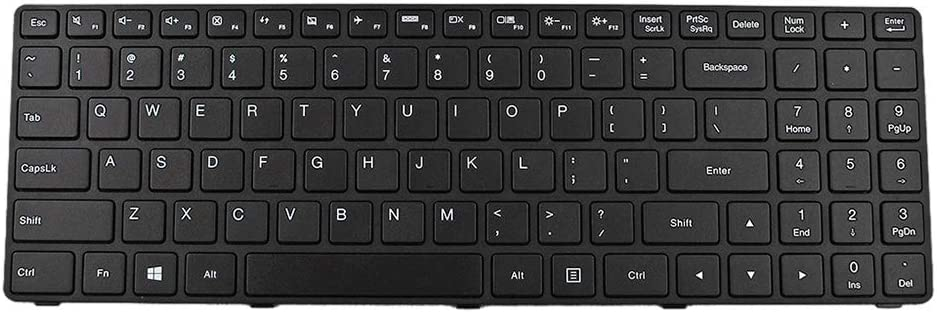 Laptop Replacement Keyboard for Lenovo Ideapad 100-15IBD Black Frame Black WIN8 Long Cable,with Cable Folded