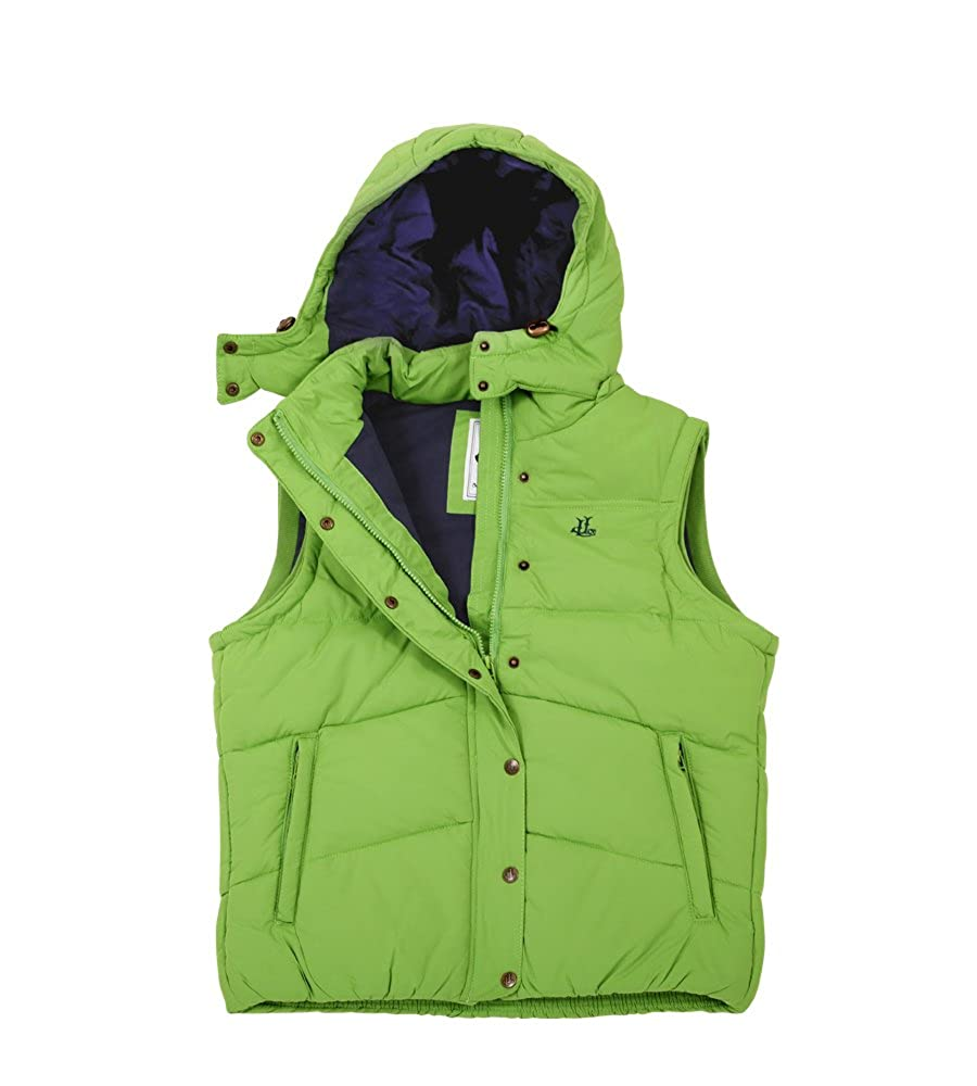Lazy Jacks Ladies Padded Gilet With Detachable Hood