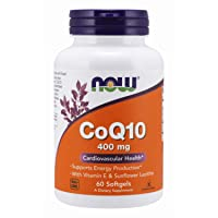 NOW Supplements, CoQ10 400 mg, Pharmaceutical Grade, All-Trans Form produced by...