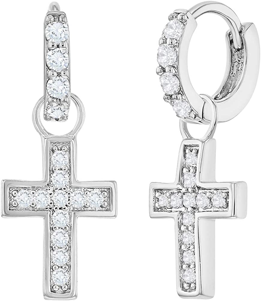 Square 7mm Glitzs Jewels 925 Sterling Silver Cubic Zirconia CZ Stud Earrings for Women Royal Blue