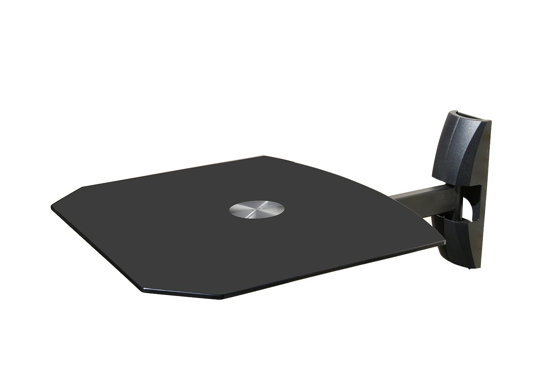 Amazon.com: Black Single WALL MOUNT SHELF for DVD VCR Cable Box ...