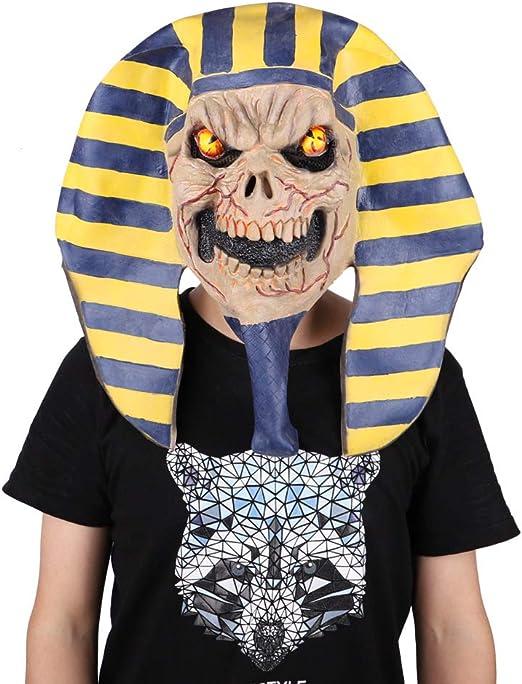 UELEGANS Máscara de faraón Egipcio de Halloween, Bola de Disfraces ...