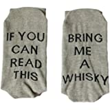 Must Rose Unisex Cotton Socks IF YOU CAN READ THIS Talking Socks FUCK OFF Crew Socks