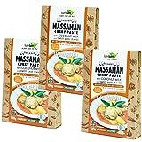 Organic Massa Man Curry Set of three paste coconut milk input sweet basil with organic JAS gluten-free vegan Halal [Parallel import]