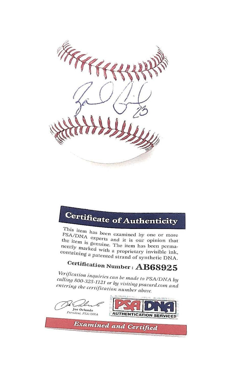 Zack Greinke Arizona Diamondbacks Signed Autograph Official Mlb