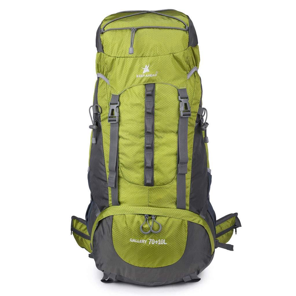 アウトドアハイキングバックパック、男性女性用70L大リュックサック、キャンプトレッキング旅行に最適な涙と防水 B07K32FRB3 グリーン