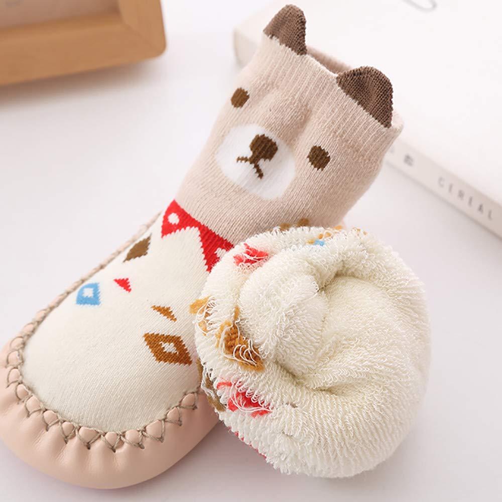Hunputa Baby Boy Girl Socks Cotton Children Floor Socks Anti-Slip Baby Step Socks