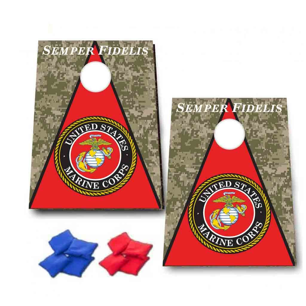 VictoryStore Cornhole Games - Marine Corps ''Semper Fidelis'' Cornhole Game, 8 Bags Included by VictoryStore