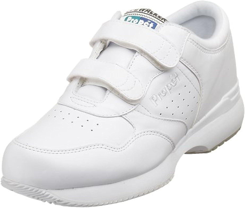 Propet Men's LifeWalker Strap Shoe White 11.5 M (D) & Oxy Cleaner Bundle