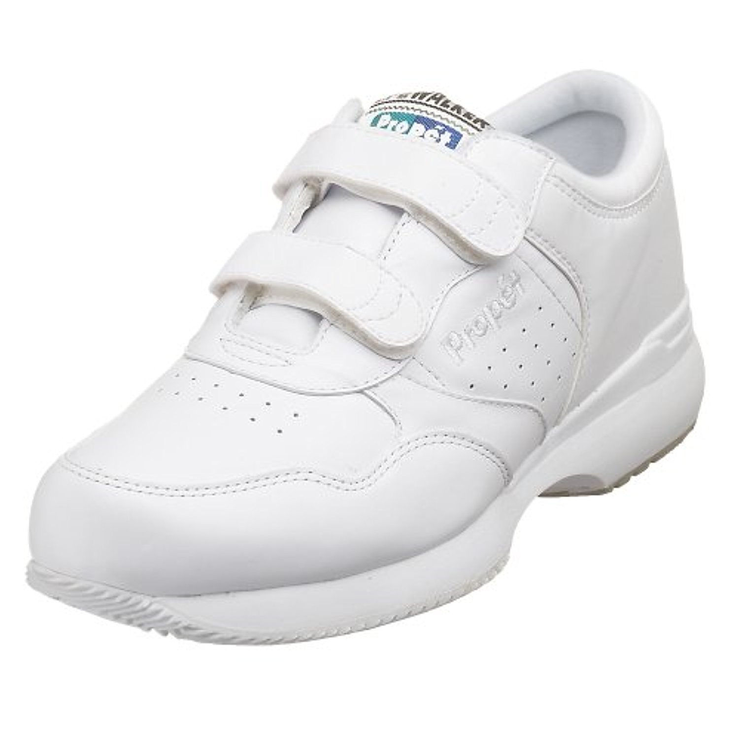 3E Propet Mens LifeWalker Strap Shoe White 9.5 X /& Oxy Cleaner Bundle