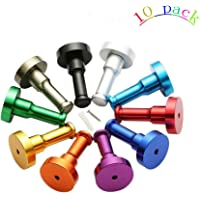 Mr Quality Colorful Wall Mounted Coat Hooks, Clothes Bag Key Hanger Hat hooks and Towel Hooks Space Aluminum 10Pcs