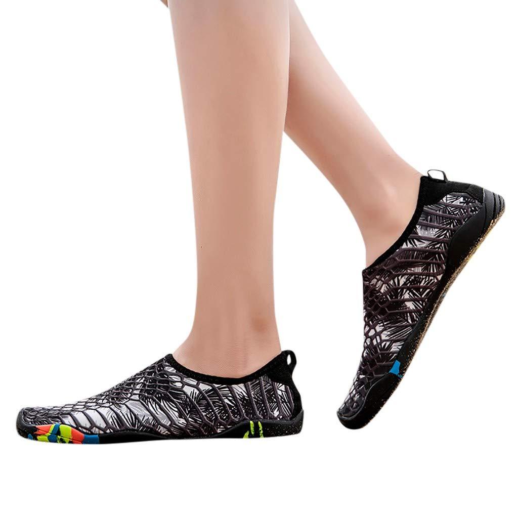 [NEWONESUN Clearance Sale] レディース Beach Water Shoes-0311 6.5 M US Black Men B07PGC4G47