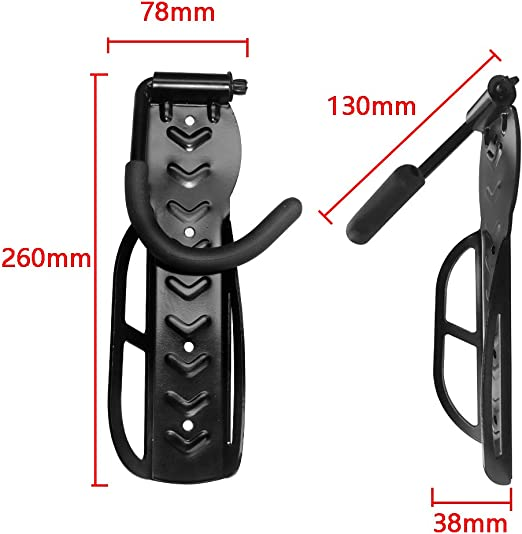 Soporte de Pared para Bicicletas 4 Unidades HENGMEI